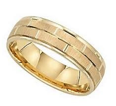 Antique Gent's Gold Wedding Band 14K 2 Tone Gold 5.8g Size:13
