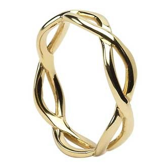 Lady's Gold Wedding Band 14K Yellow Gold 2.1g Size:7.8
