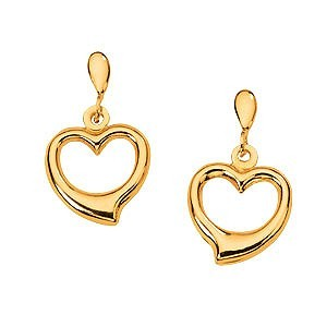 Gold Earrings 14K 2 Tone Gold 1g