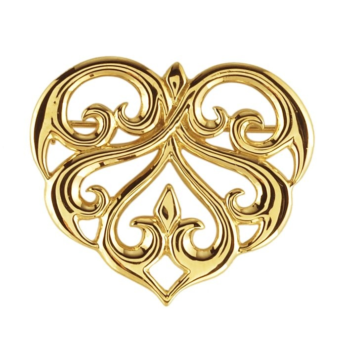 Gold Brooch Yellow Gold Filled 1.2dwt