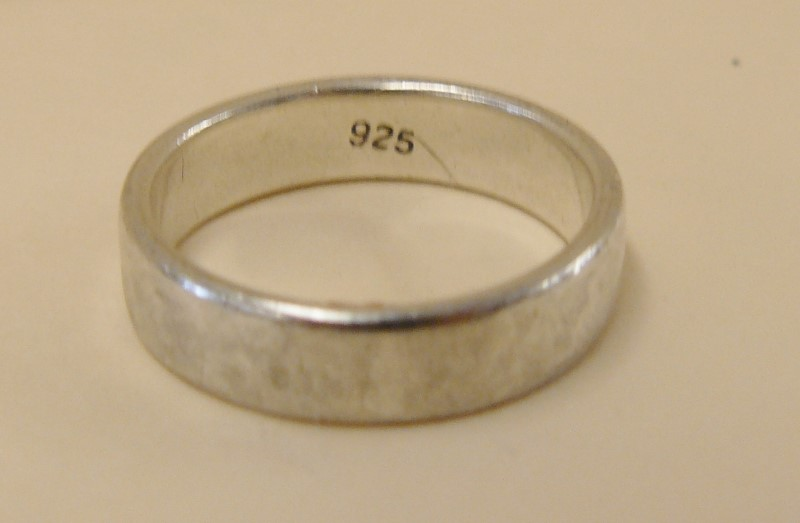 Silver .925 Band, Size 7