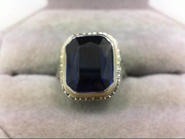 Lady's Gold Ring 18K White Gold 3.3g Size:3