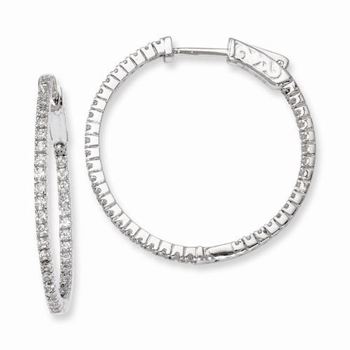 Synthetic Cubic Zirconia Silver-Stone Earrings 925 Silver 4.12g
