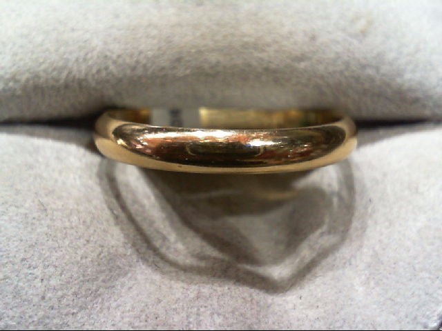 Gent's Gold Wedding Band 10K Yellow Gold 2.6g Size:8.3