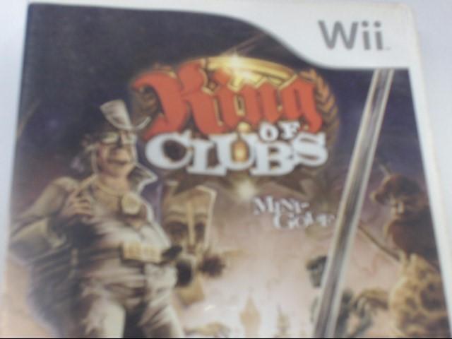 WII GAME - KING OF CLUBS MINI-GOLF