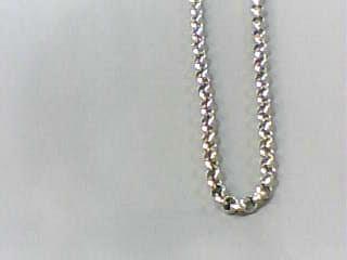 "16"" Gold Link Chain 18K White Gold 1.4dwt"