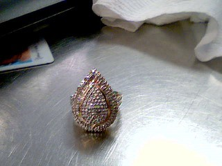 Lady's Silver-Diamond Ring 100 Diamonds 1.20 Carat T.W. 925 Silver 8.3g