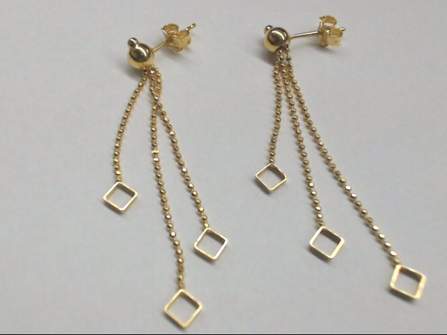 Gold Earrings 14K Yellow Gold 2.6g