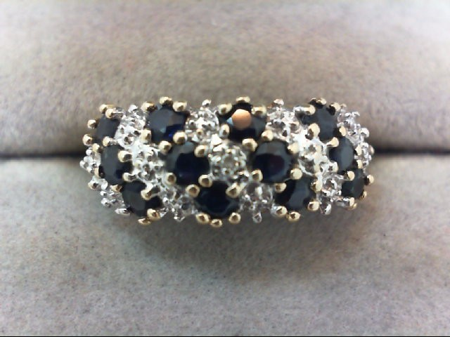 Sapphire Lady's Stone Ring 10K Yellow Gold 3.2g