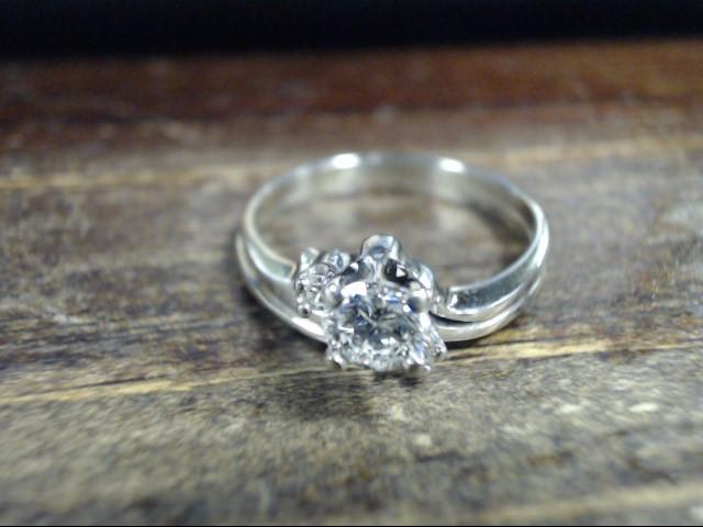 Lady's Diamond Cluster Ring 3 Diamonds .56 Carat T.W. 18K Yellow Gold 4.1g
