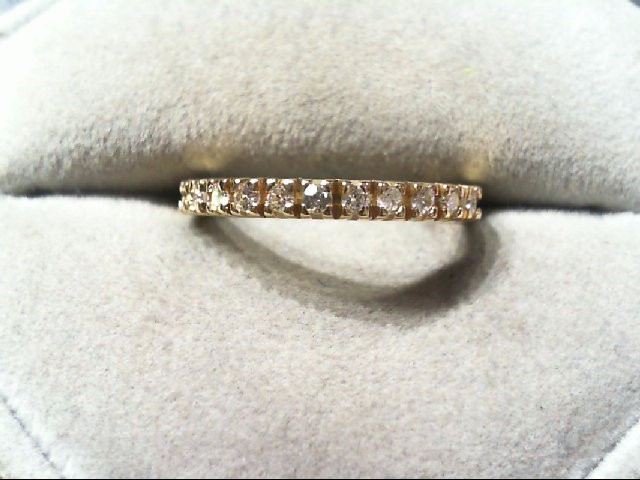 Lady's Diamond Wedding Band 11 Diamonds .22 Carat T.W. 14K Yellow Gold 2.2g