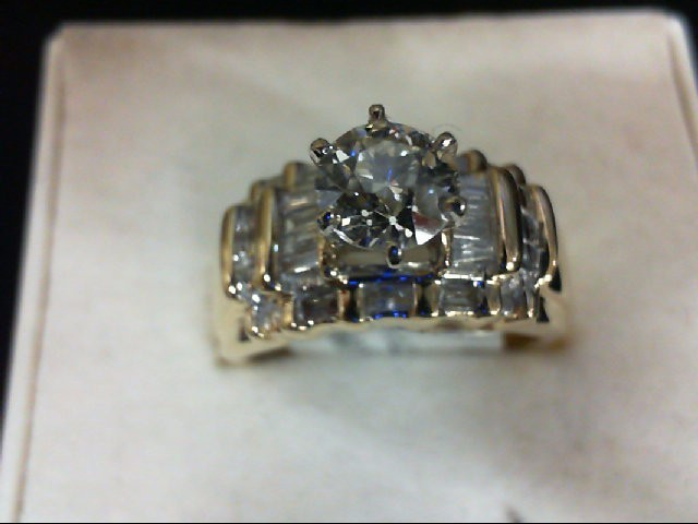 Lady's Diamond Wedding Set 15 Diamonds 1.0 Carat T.W. 14K Yellow Gold 6.27g