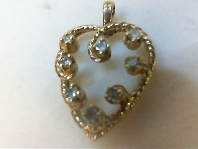 Gold-Multi-Diamond Pendant 8 Diamonds 0.24 Carat T.W. 14K Yellow Gold 2.6g
