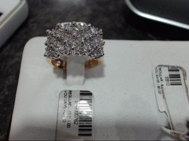 Lady's Gold-Diamond Anniversary Ring 0.01 CT. 14K Yellow Gold 6.4g