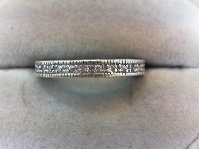Lady's Silver-Diamond Ring 16 Diamonds .16 Carat T.W. 925 Silver 3g