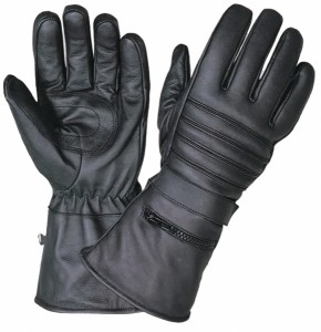 UNIK MODEL 1250.00, GAUNTLET GLOVES WITH RAIN COVER - SMALL