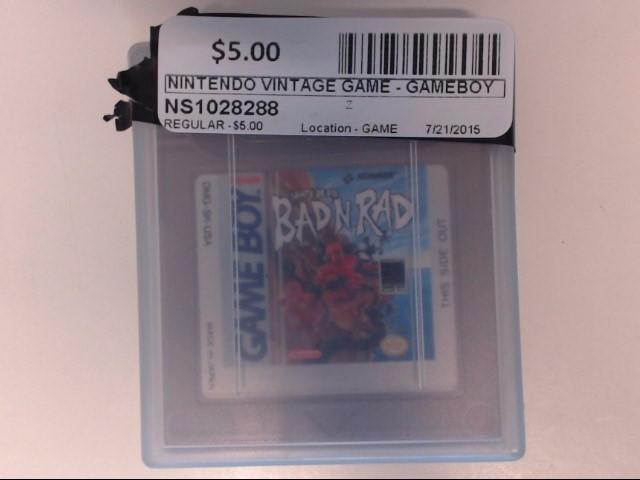 NINTENDO Vintage Game GAME - GAMEBOY