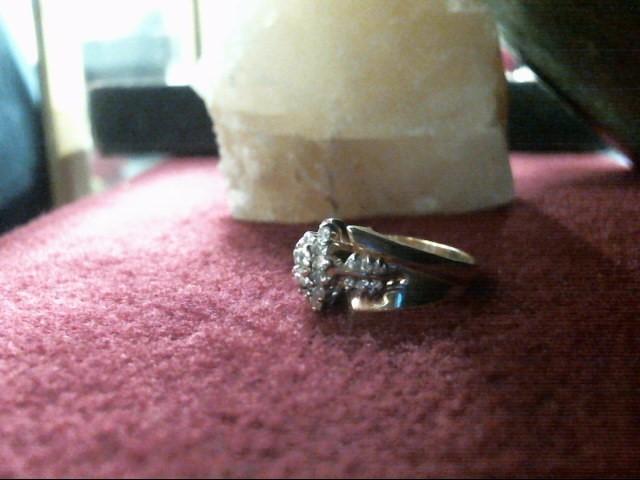 Lady's Diamond Cluster Ring 24 Diamonds .48 Carat T.W. 14K Yellow Gold 3.9dwt