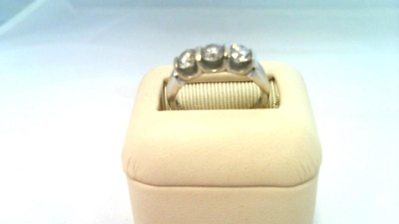 LADY'S W/G ANNIVERSARY DIAMOND RING