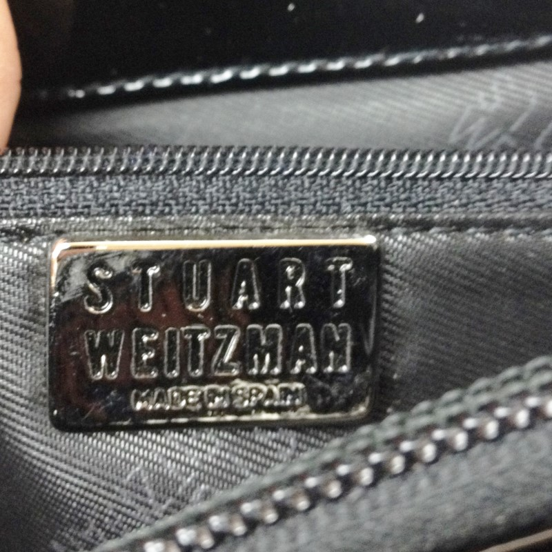 STUART WEITZMAN PATENT FLAP SHOULDER BAG