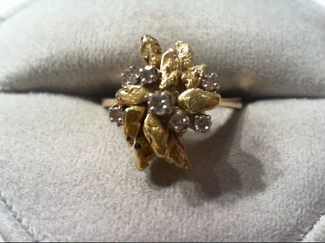 natural nugget/diamond fashion ring 5.7g