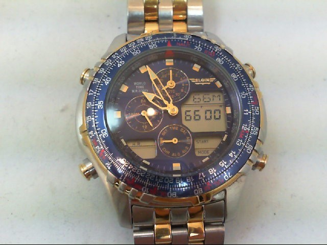 ELGIN Gent's Wristwatch WORLD TIME