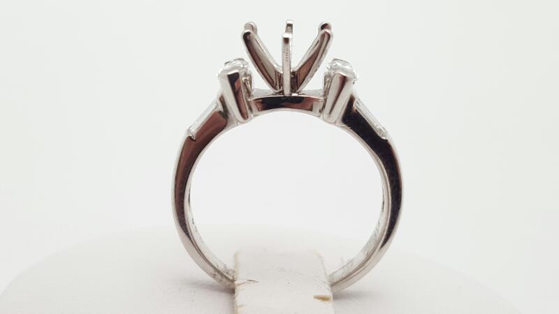 Lady's Platinum-Diamond Wedding Band 6 Diamonds .64 Carat T.W. 950 Platinum 6.1g