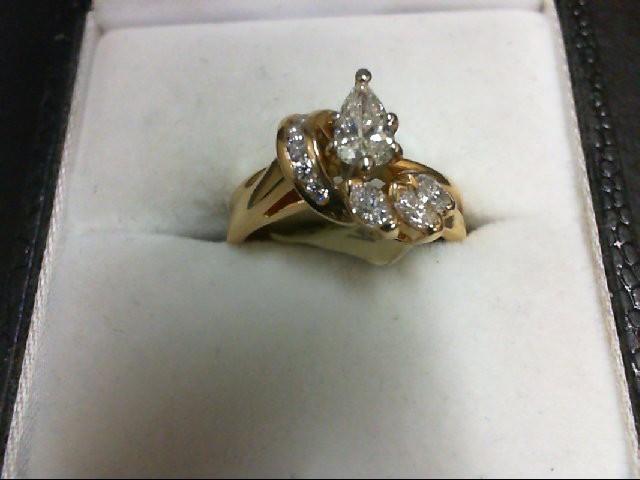 Lady's Diamond Wedding Set 10 Diamonds 0.75 Carat T.W. 14K Yellow Gold 3.9g