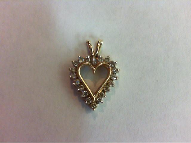 Gold-Multi-Diamond Pendant 20 Diamonds 0.2 Carat T.W. 10K Yellow Gold 1.3g