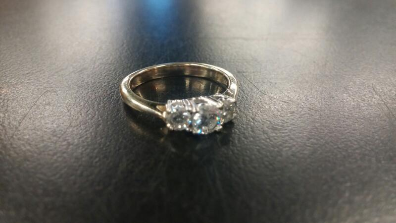 Lady's Ring 3-Diamonds .60cttw  14K Yellow Gold