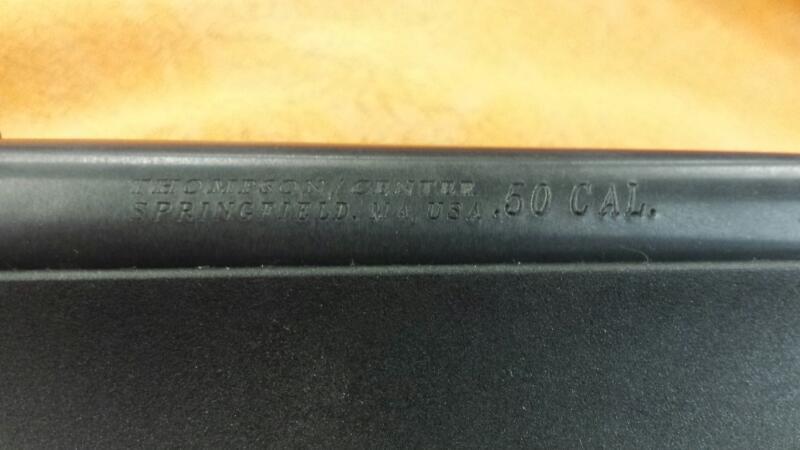 THOMPSON CENTER INLINE - BLUED W/SYN STK-OPEN SITES- 50 CAL BLACK POWDER