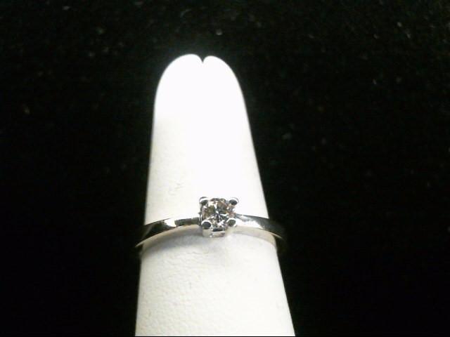 Lady's Diamond Engagement Ring .14 CT. 14K White Gold 3.1g Size:7