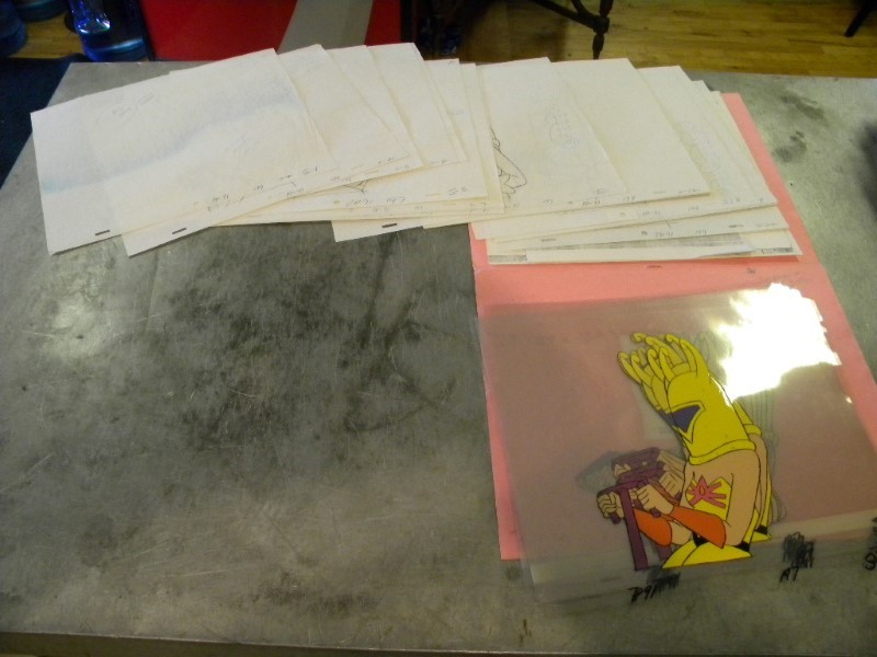 LOT OF ANIMATION CELLS MASTERS OF THE UNIVERSE QUEEN BEE