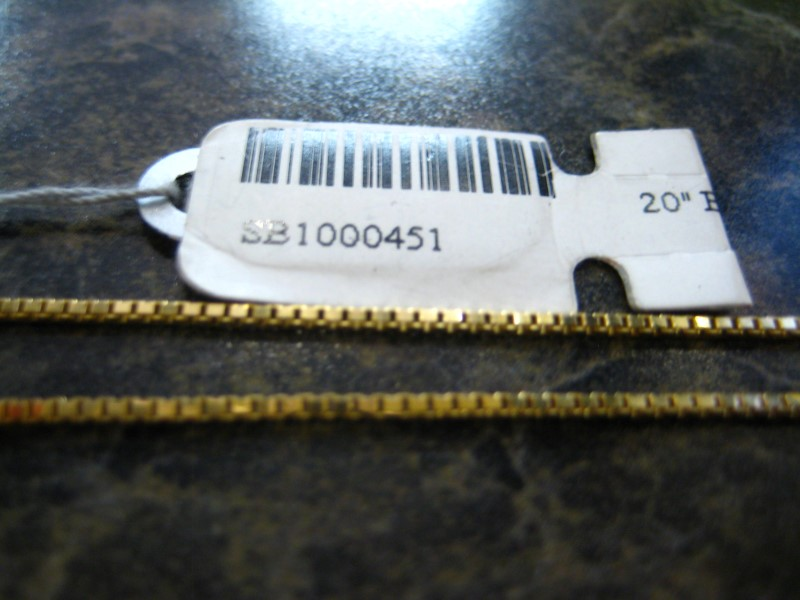 "20"" Gold Chain 10K Yellow Gold 2.8g"