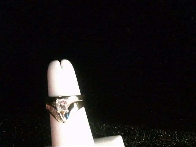 Lady's Diamond Wedding Set 10 Diamonds .98 Carat T.W. 14K Yellow Gold 5.7g