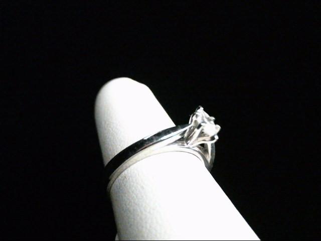 Lady's Platinum-Diamond Solitaire .23 CT. 950 Platinum 2.8g Size:6