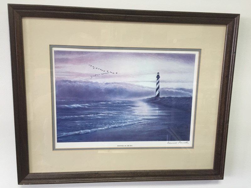 EDWARD POWELL PAINTING SENTINEL OF THE SEA CAPE HATTERAS