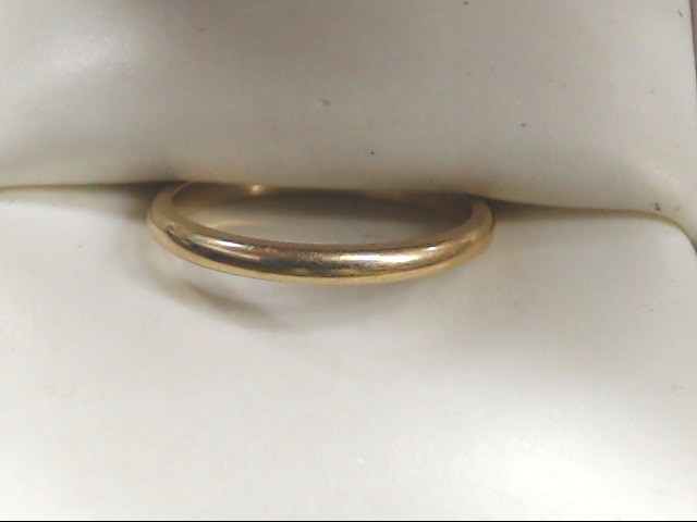 Lady's Gold Wedding Band 14K Yellow Gold 1.7g Size:6