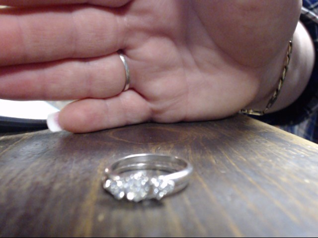 Lady's Diamond Wedding Set 7 Diamonds .53 Carat T.W. 14K White Gold 3.3g