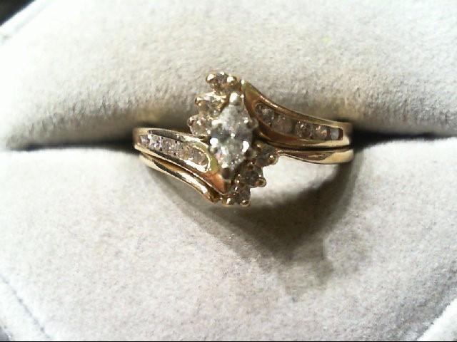 Lady's Diamond Wedding Set 19 Diamonds .49 Carat T.W. 14K Yellow Gold 4.7g