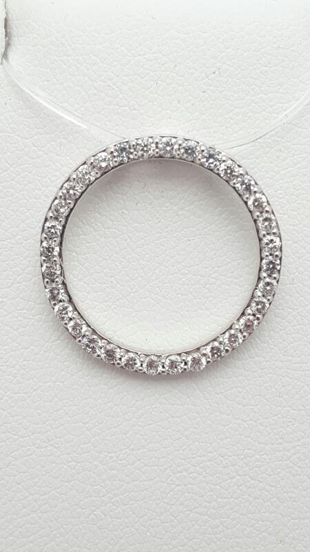 Gold-Multi-Diamond Pendant 27 Diamonds .47 Carat T.W. 14K White Gold 1.9g