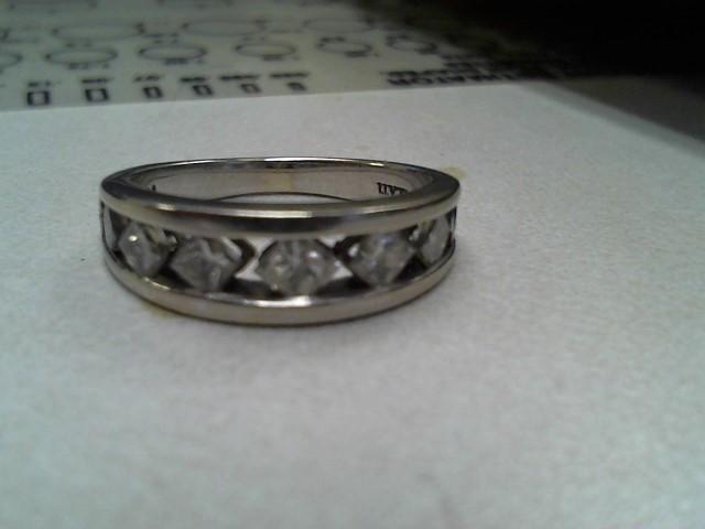 Lady's Diamond Cluster Ring 7 Diamonds .93 Carat T.W. 14K White Gold 2.6dwt