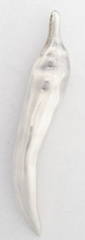 Taxco Mexico TC-193 925 Sterling Silver Italian Horn Brooch 9.51G