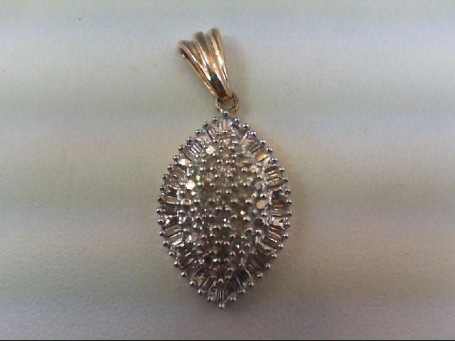 Gold-Multi-Diamond Pendant 47 Diamonds .48 Carat T.W. 10K Yellow Gold 2.2g