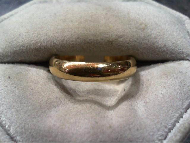 Lady's Gold Wedding Band 10K Yellow Gold 3.5g Size:8