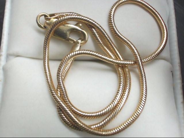 """11"""" Gold Snake Bracelet 14K Yellow Gold 5.1g"""