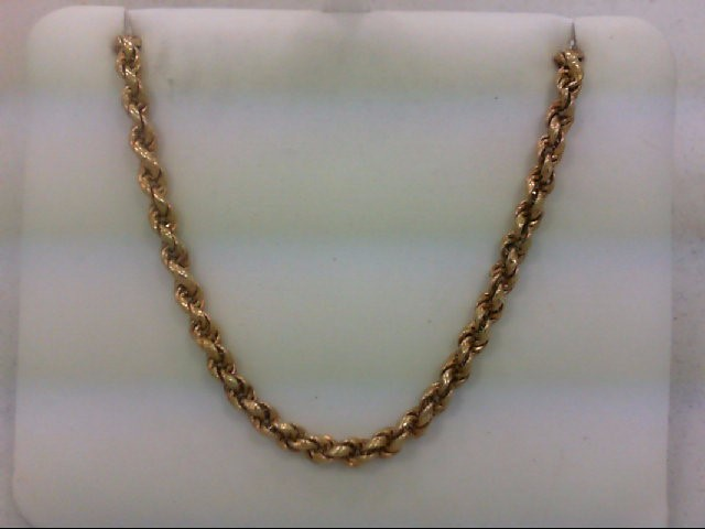 """18"""" Gold Rope Chain 14K Yellow Gold 9g"""