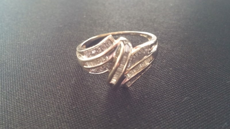 Lady's Diamond Fashion Ring 44 Diamonds .44 Carat T.W. 10K Yellow Gold 2.7dwt
