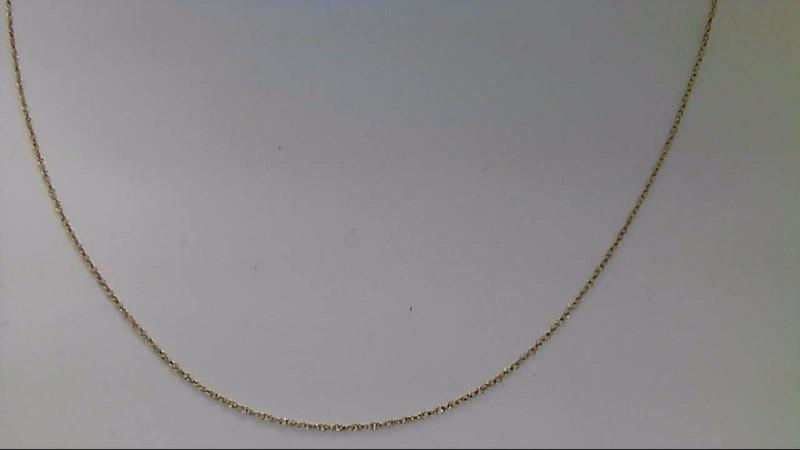 Gold Fine Chain 10K Yellow Gold 0.03g