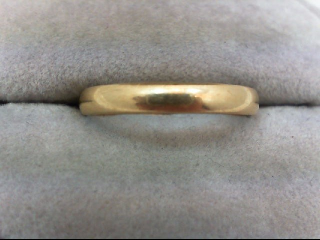 Gent's Gold Wedding Band 14K Yellow Gold 2.1g Size:10